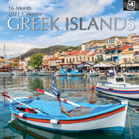 Greek Islands - 2021 Square Wall Calendar 16 month by Gifted Stationery (B)
