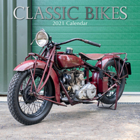 Classic Bikes - 2021 Square Wall Calendar 16 month by Gifted Stationery (I)