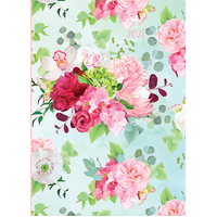 Belles Fleurs - 2021 Diary Planner A5 Padded Cover by The Gifted Stationery(DB)