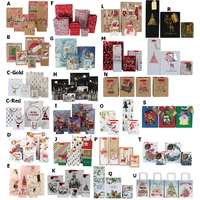 12x Christmas Gift Bags Cardboard Paper Bags w Foil S M L XL Bottle High Quality