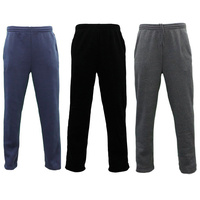 NEW Men's Fleece Lined Track Pants Track Suit Pants Casual Winter Elastic Waist