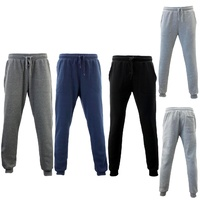 NEW Men's Skinny Track Pants Fleece Lined Slim Cuff Trackies Slacks Tracksuit
