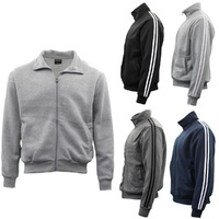 Men's Casual Sweatshirt Jacket Full Zip Stand Collar Sports Jumper Hoodie