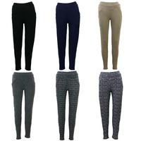 Women's Stretch Leggings Skinny Slim Pants w Pockets Casual Trousers