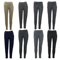 Women's Stretch Winter Slim Thermal Thick Fleece Lined Leggings Pants w Pockets