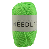 [#2078 Fluro Green] 100g Knitting Yarn 8 Ply Super Soft Acrylic Knitting Wool Solid Multi Colours