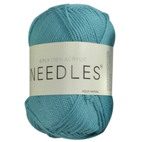 [#2188 Aquamarine] 100g Knitting Yarn 8 Ply Super Soft Acrylic Knitting Wool Solid Multi Colours