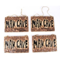 Garage Boy's Room Bar Door Hanging Sign Décor Stone Look - Man Cave