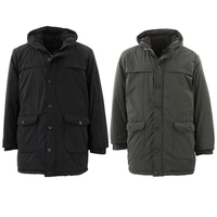 Men's Winter Trench Coat Long Jacket Outwear Overcoat Parka Windbreaker