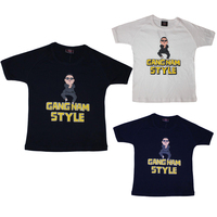 Kid's Children's T-Shirt PSY inspired Gangnam Style T shirt 100% Cotton
