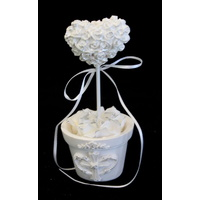 6x Wedding Christening Place Name Card Holder Heart W Pot Favour Bomboniere