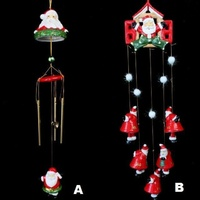 Christmas Ceramic Handpainted Wind Chime Windchime Xmas Decorationr 50-55cm 21""