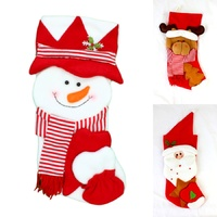 48 cm Santa Reindeer XmasChristmas Stocking Present Socks Home Wall Party Décor