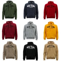 Adult Men's Unisex Hoodie Hooded Jumper Pullover Women's Sweater - NEW YORK