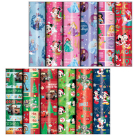 Disney Kids Christmas Gift Wrap Rolls Wrapping Paper 3m x 70cm