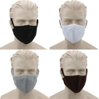 FIL Reusable Cloth Cotton Face Mask 3 Layers Fitted Fabric Washable Adult Unisex