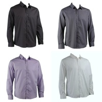 Men's Formal Dress Business Shirts Long Sleeve Cotton Blend Easy Iron