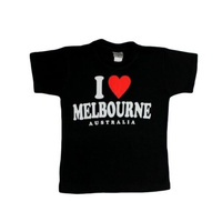 Kids T Shirt Australian Australia Day Souvenir 100% Cotton – I Love Melbourne