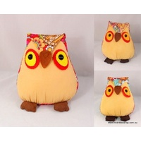 Adorable Soft Toy Stuffed Animal Room Décor with Vibrant Patterns - Owl (24cm)