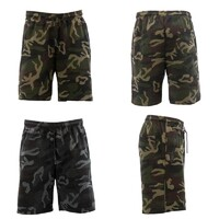 Men's Camo Shorts Gym Sports Jogging Casual Basketball Zipped Pockets Camouflage