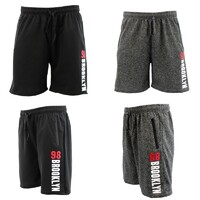 NEW Men's Gym Sports Jogging Casual Basketball Shorts Zipped Pockets 98 Brooklyn