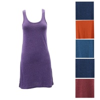 Women's Tank Singlet Dress Short Sleeve Summer Casual Beach Wear Cotton Blend