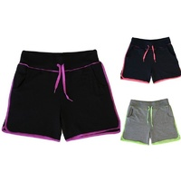 Women Ladies Casual Gym Sports Training Jogging Running Shorts w Drawstring