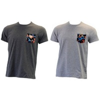 NEW Men's 100% COTTON T-SHIRT with Pocket Casual Top
