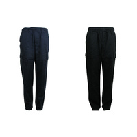 NEW Mens Cotton Drill Work Utility Casual Cargo Pants Trousers Black Navy S-2XL