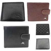 Australian Souvenir Australia Mens Leather Bi-Fold wallet Genuine Leather