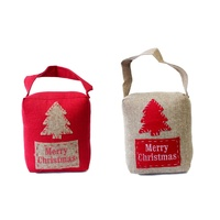 Christmas Door Stopper Stop Fabric Home Xmas Décor Merry Christmas Red Natural
