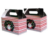 12x Christmas Paper Boxes - XMAS Gift Lolly Favour Cake Hamper Boxes 18x16cm