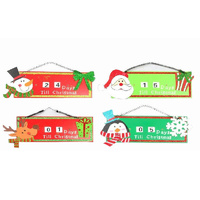 Christmas Xmas Advent Countdown Days Until  Calendar Hanging Decoration Décor  [Occasion: Christmas]