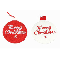 Christmas Glitter Hanging Door Wall Xmas Decoration Décor - Merry Christmas