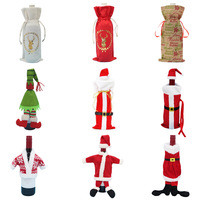 Christmas Santa Wine Bottle Bag Cover XMAS Gift Wrap Table Decoration