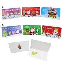 3x Christmas Money Wallet Xmas Gift Card Holder Checks Voucher Assorted