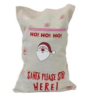 Christmas Santa Sack Xmas Jute Favour Bag Children Gifts Kids Stocking 72x50cm