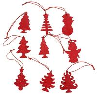 Set of 36 Christmas XMAS Red Glitter Tree Ornaments Hanging Decorations Décor