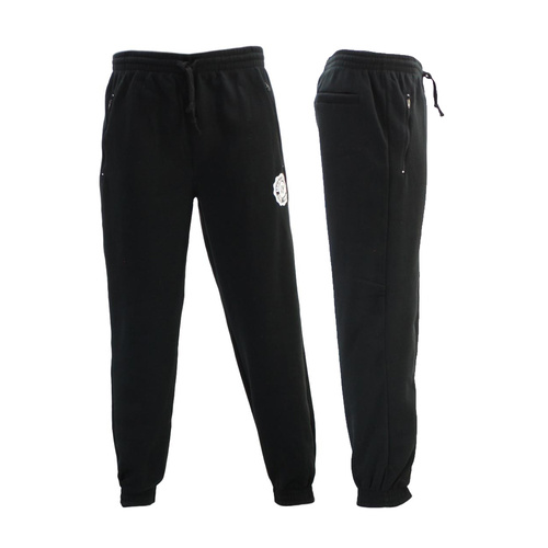 FIL Mens Skinny Jogger Fleeced Track Pants Zip Pockets Trousers Cuff Trackies NY [Size: S] [Colour: Black]