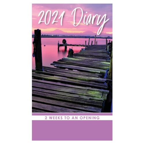 Sunsets & Beaches - 2021 Pocket Diary Planner 2 Week View 90x155mm - Design Group