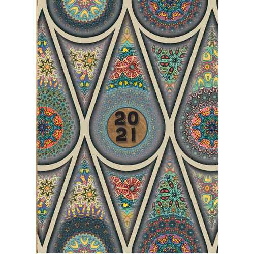 Mandala - 2021 Diary Planner A5 Padded Cover by The Gifted Stationery (DD)