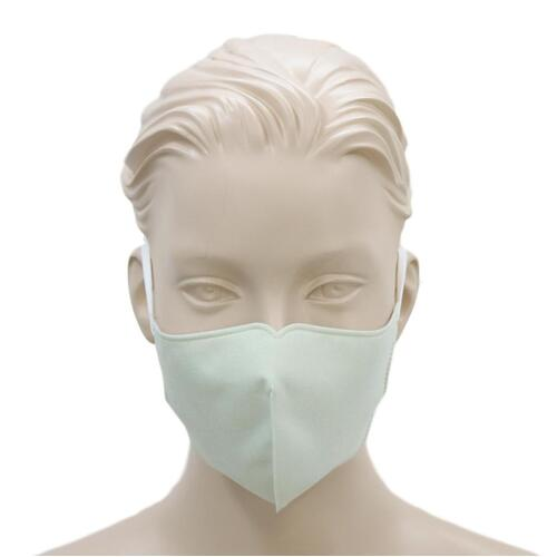 [Pale Green] Adult Reusable Cloth Face Mask Cotton 3 Layers 3D Shaped Fabric Washable