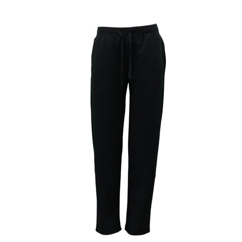 Women's Ladies Wide Leg Track Pants Fleece Lined Sweatpants Jogger Trackies [Size: S] [Colour: Black]