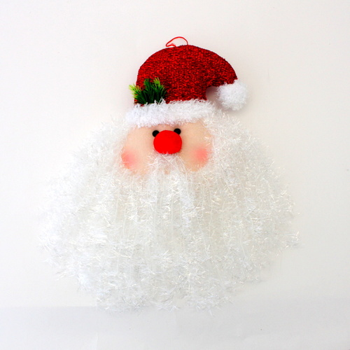 Christmas XMAS Hanging Santa Head Light Up Illuminated Tree Decoration 45CM [Size: M (30x45cm)]